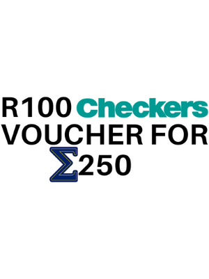 Checkers voucher – R100